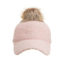 Women's Imitation Lambs Wool Baseball Hats Adjustable Warm Snapback Caps - $21.45
