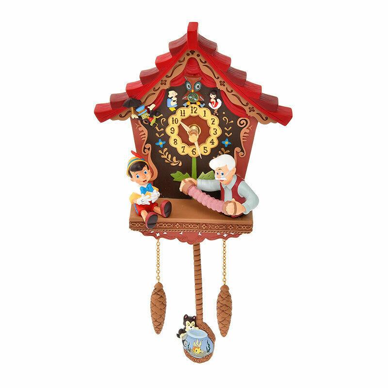 Disney Store Pinocchio 80th Wall Clock Pendulum Clock Figaro Rose Pet Grandfathe - $294.03