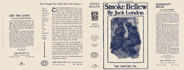 Jack London SMOKE BELLEW facsimile dust jacket for 5th edition book - $27.40