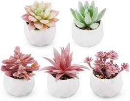 NEW Artificial Succulent Plants Fake Succulent in Pot Mini Faux Succulent - $27.45