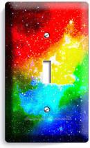 Space Galaxy Stars Rainbow Nebula Cloud 1 Gang Light Switch Plate Room Art Decor - $8.99
