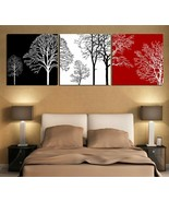 Almudena® 3Pc/set Black White And Red Tree Modern Wall Art Oil Painting ... - $15.10+