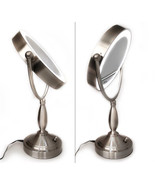 Rucci L.E.D.-Lighted 10X Mag Satin Nickel Sculpted Neck Mirror (M998) - $919,06 MXN