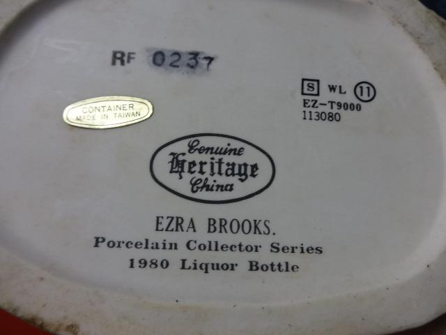 EZRA BROOKS Wildlife Collector Series WHOOPING CRANE porcelain decanter