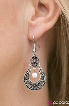Touring Abroad White Earring - $5.00