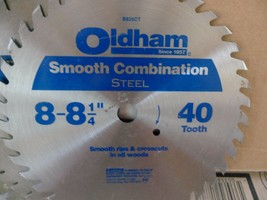 "oldham 40 tooth 8"" smooth combination saw blade steel - $4.50"