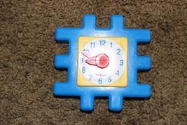 Replacement Part Little tikes Waffle Blocks Rare Blue Clock FREE US SHIP - $18.95