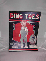 VTG Sheet Music: Ding Toes 1920 by Caddigan & Story Sung by Francis White - $7.92
