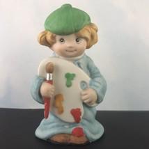 Wallace Berries Let's Pretend Ceramic Figurine Little Artist  #8572 - $14.80
