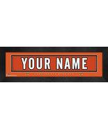 "Personalized Cincinnati Bengals Stitched Team Jersey 8"" x 24"" Framed Print - $38.50"