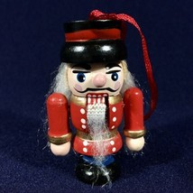 Vintage Avon 1995 Christmas Holiday Nutcracker Wooden Ornament (Red) -New in Box - $9.46