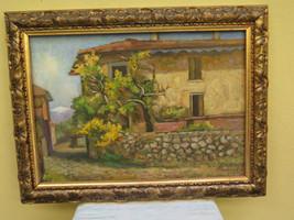 Antique Painting Style Impressionist landscape Countryside Signed Pancaldi - $468.01