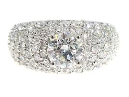 18k Gold 3.00 ct Prong Set Diamond Engagement Ring  - $13,570.00