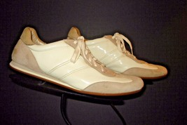 Cole Haan Ivory Patent Leather Suede Trims Casual Sneaker Sz. 9M NICE! - $47.85 CAD