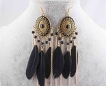 Merican tassel earrings feather leaf drop earrings for women chain dangle earrings thumb155 crop