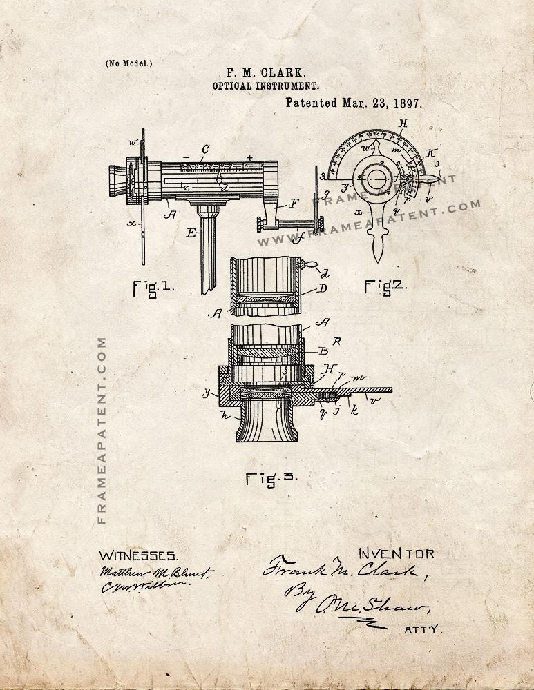 Primary image for Optical Instrument Patent Print - Old Look