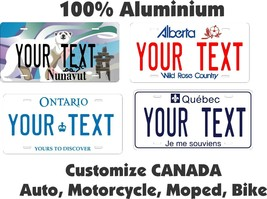Canada Tag Custom Personalized Car Motorcycle Moped Bike Bicycle License... - $10.99+