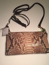 New Coach Madison Python Embossed Leather Kylie Crossbody Bag Clutch 510... - $96.22