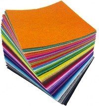 Flic-flac 4 X 4 Inches (10 X10cm) Assorted Color Felt Fabric Sheets Patc... - $12.83