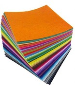 Flic-flac 4 X 4 Inches (10 X10cm) Assorted Color Felt Fabric Sheets Patc... - £10.07 GBP