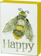 Primitives by Kathy String Art Box Sign Bee Happy - $17.02