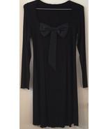 TWIN SET SIMONA BARBIERI Light Force Spa Long sleeve Dress LBD Bow Size ... - $54.92