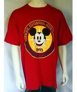Disney Mickey Red T Shirt XL Official Disneyana Convention 1994 Red Disn... - $10.88