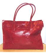 Vintage Large Red Purse Faux Snake Skin Elizabe... - $8.00
