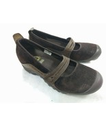 Merrell Shoes Size 7 Plaza Bandeau Chocolate Brown Suede Leather Mary Jane - $14.92