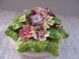 "Vintage Charming Staffordshire Bone China Floral Bouqet 4.5 - 5"" W X 3' High - $65.00"