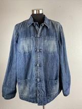 Ralph Lauren Jeans Co Womens Denim Chore Barn Jacket 2X Plus Pockets Kno... - $37.12