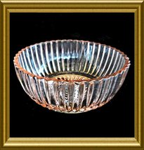 """Hocking Depression Glass 4.25"""" Bowl in Pink Queen Mary Pattern - $8.00"""