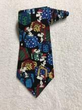 Peanuts Snoopy & Friends Do Not Open Till Christmas Cartoon Vintage Tie Necktie - $19.79