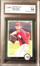 Mike Leake 2010 Bowman #196 Graded GMA 10 Reds Seattle Mariners Baseball cards - $3.33
