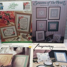 Marriage Wedding Love Cross Stitch Pattern Chart Lot Of 4 Anniversary Hi... - $13.61