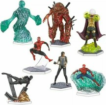 Disney Spiderman Far From Home Deluxe Figurine Set Marvel 7 Figurines Toy Age 3+ - $28.01