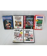 Sega Genesis Sports Game Lot - 6 Games - Buster Douglas Boxing, Ruby 95 ... - $29.44