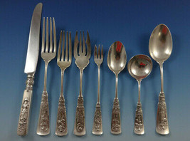 Fontainebleau by Gorham Sterling Silver Flatware Set For 12 Service 123 Pieces