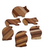Wood Coaster Assortment (set of 6) Handcrafted from Mixed Hardwoods - $18.00