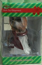 BRAND NEW IN BOX Paws Claus Shih Tzu 2012 Holiday Ornament, NEW - $6.92