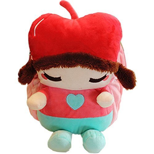 Baby Knapsack Infant Apple Girl Backpack Prevent From Getting Lost(Pink)