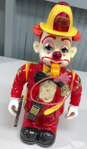 """Vintage Bumpin' Benny Animated Fireman Clown 12"""" Battery Operated *SEE V... - $16.51"""