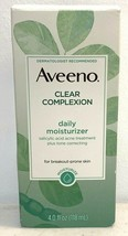 Aveeno Clear Complexion Daily Moisturizer, 4 Oz  exp 9/2020 - $12.87