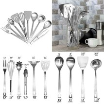 Stainless Steel Cooking Utensils (10-Piece Set); Kitchen Tool Set W/Whis... - $27.38 CAD