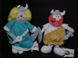 Hagar and Helga Bean Bag Plush Toys With Tags Universal Studios 1999 - $24.74
