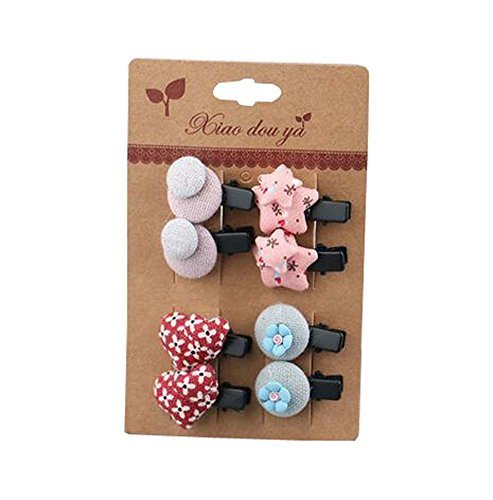 Newly Design Little Girls Hair Pins Hair Clips Accessories 8 piece, NO.4