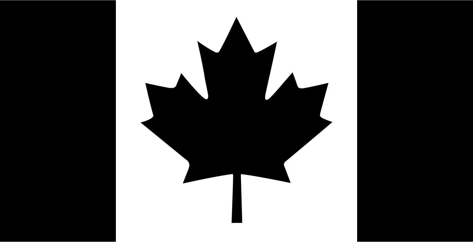 Canada Flag Vinyl Logo Decal Sticker For Window Wall