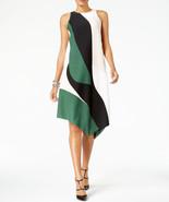$99.5  Alfani Asymmetrical-Hem Swing Dress Large Abstract Curve 10 - $73.15
