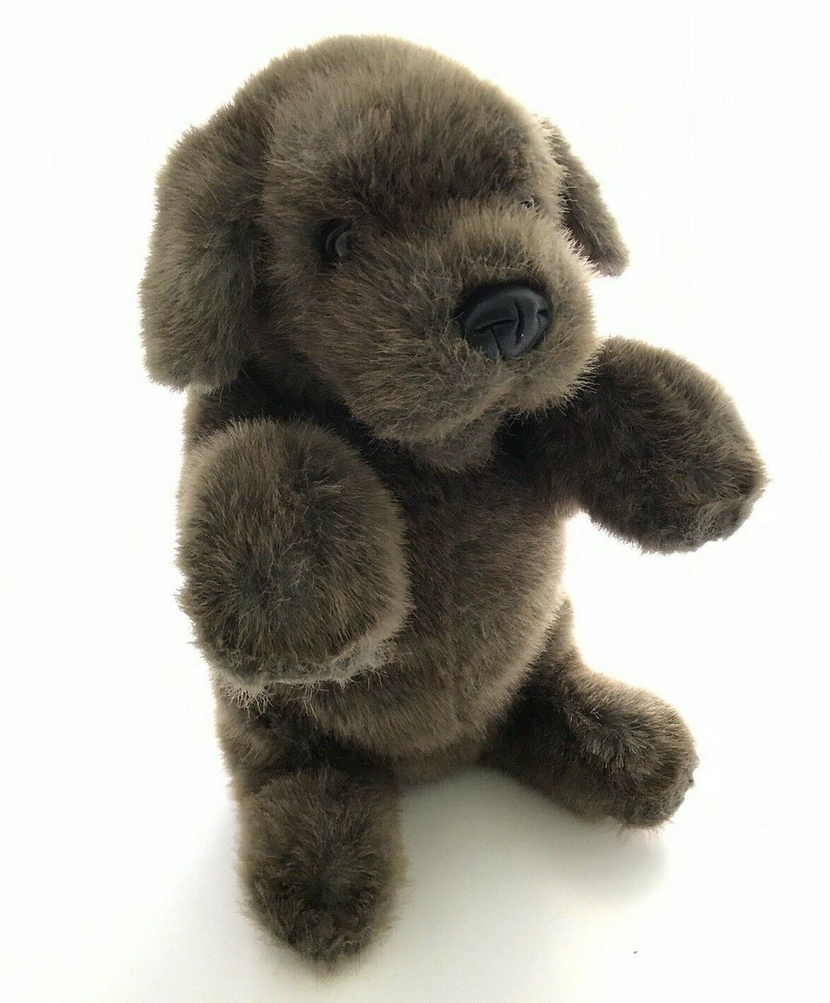 """Folkmanis Sitting Dog Hand Puppet Brown 15"""" Puppy Puppet Stuffed Toy Plush Toy  - $22.72"""