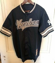 Stitches MLB NY Yankees Button-Up Jersey Mens Large NEW NWT Sewn Graphics - $29.95